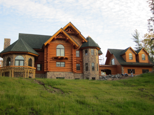 New Log Home Finished by IWR Co.